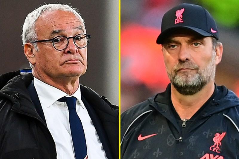 Ranieri's new Watford side host Klopp's Liverpool on Saturday lunchtime