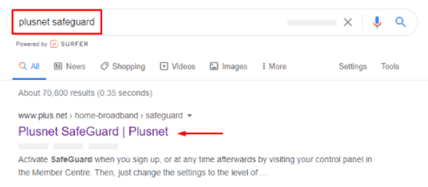 How To Setup Plusnet Safeguard