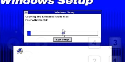 Windows 3.1 running inside DosBox on an Android Device