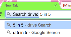 drive search in Chrome