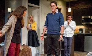 "The cast of ""Bad Jews"" at The Cygnet Theatre"