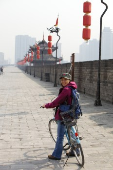 Cycling was the best way to get around the city wall.