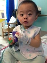 Ashton was in hospital.