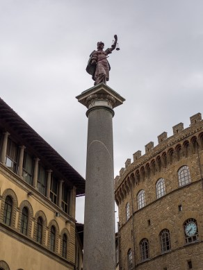 You will never cease to look and take photos of the magnificent statues dotted around the city of Florence.