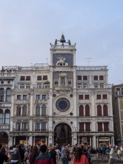 My last visit to Venice was in 2004. This clock tower was under renovation at the time and now I can see its 'face'.
