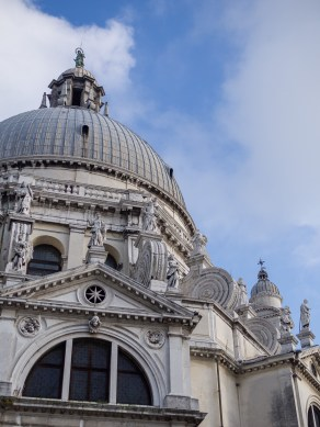 The top of Santa Maria Della Salute was very beautiful indeed.