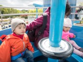 Ashton was very very curious about each of the rides, especially those that went high up in the sky!