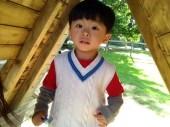 Ashton has grown a lot this summer. Despite his screams, he's a lovely boy!