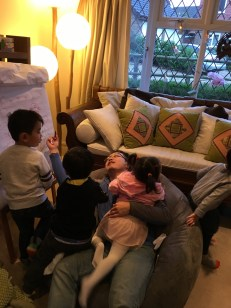 I was overrun by kids!