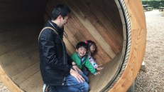 Spinning wheel, gosh, they had so much fun in it.