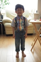 Ashton is dressing smart.