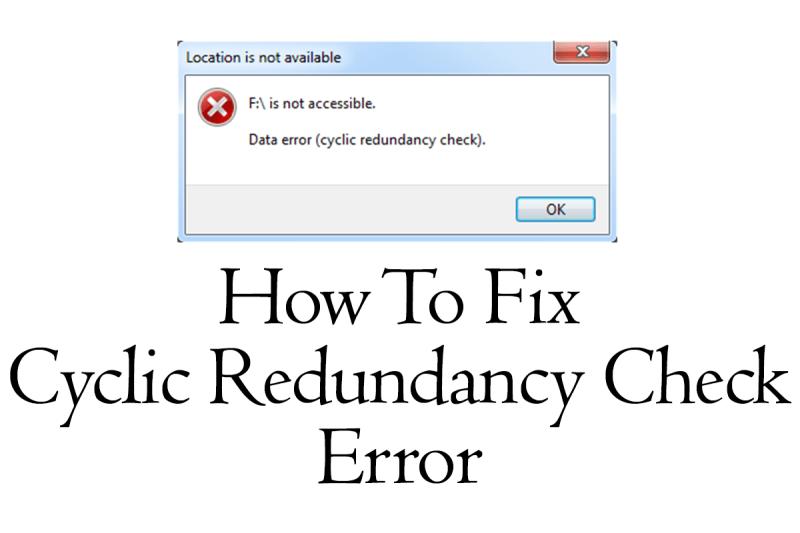solve cyclic redundancy error