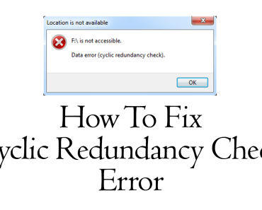 solve cyclic redundancy error