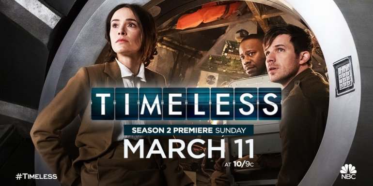 Timeless S2 premiere