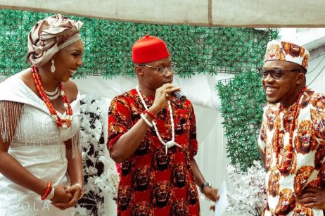 Dr. George The Talk Doctor as an MC at Aproko Doctor's wedding