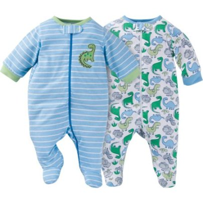 "These are often called ""sleep and play"" suits, they can also be found in the PJ section of stores."