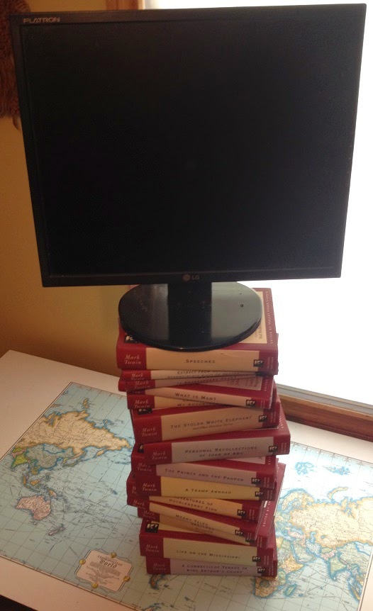 Raising Monitor For Tall People With Stack Of Books
