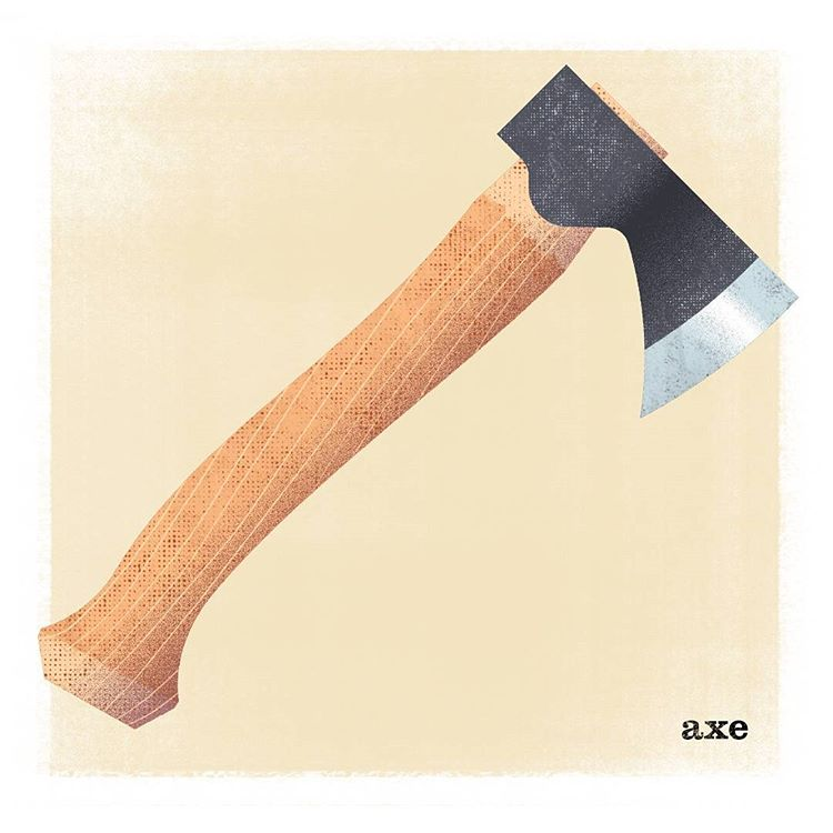 Hacha para madera