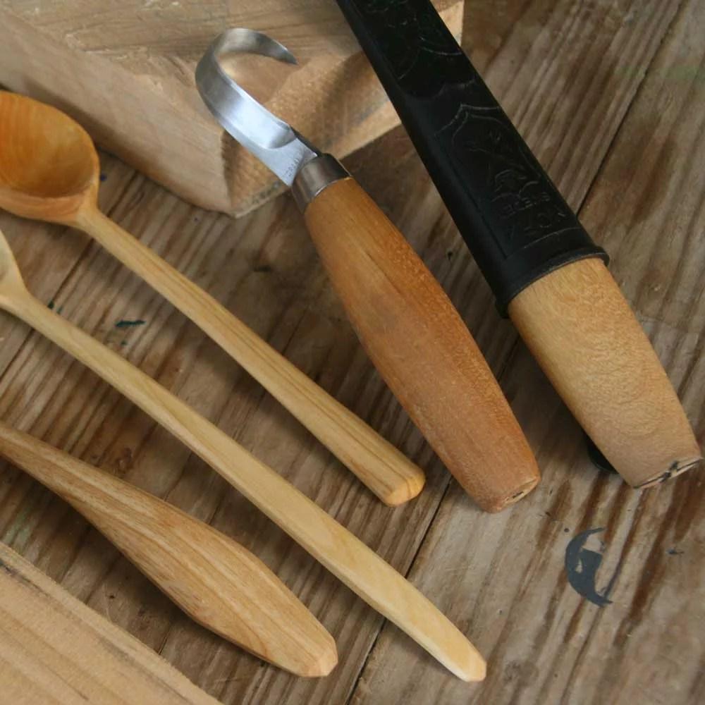herramientas para la talla de cucharas en madera