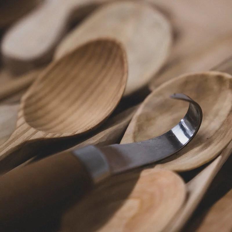 Cuchillos para talla de cucharas