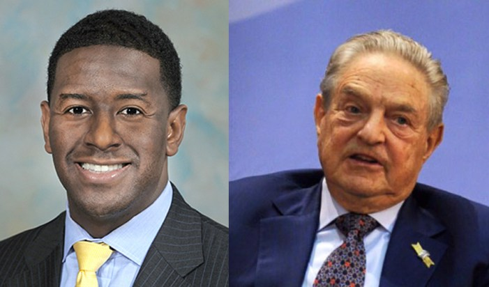 Soros Family Gives Gillum Committee $150,000