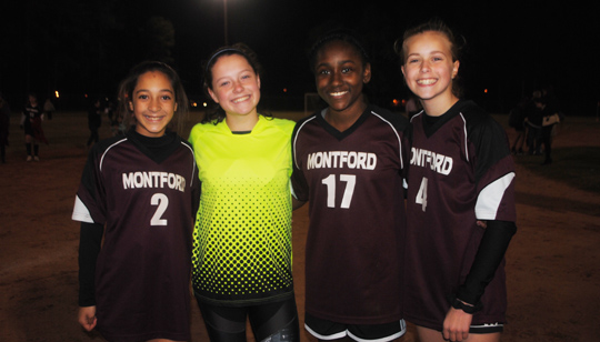 Montford Girls Soccer Team on a Winning Streak