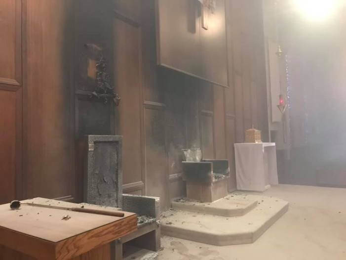 Arson Suspected in St. Thomas More Church Fire