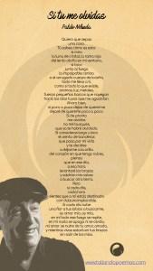 imagen Si tu me olvidas Pablo Neruda