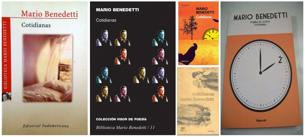 """Carátulas de """"Cotidiana"""" poemario de Mario Benedetti"""