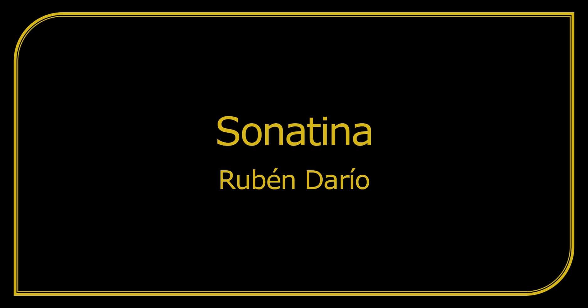 Imagen Sonatina Ruben Dario