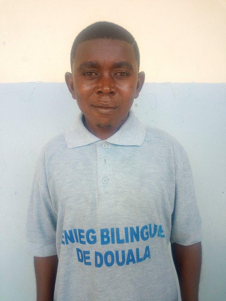 Kpoumie Nsangou Mama  Aka Big Zagalo au Lycée Bilingue de Deido ce 14/08/2018.