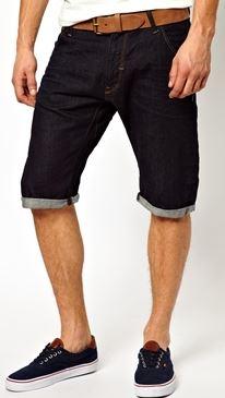 men's long denim shorts