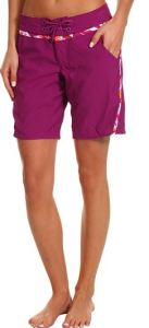 women's long boardshorts purple