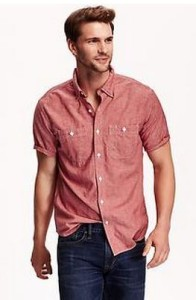 colored tall chambray shirt