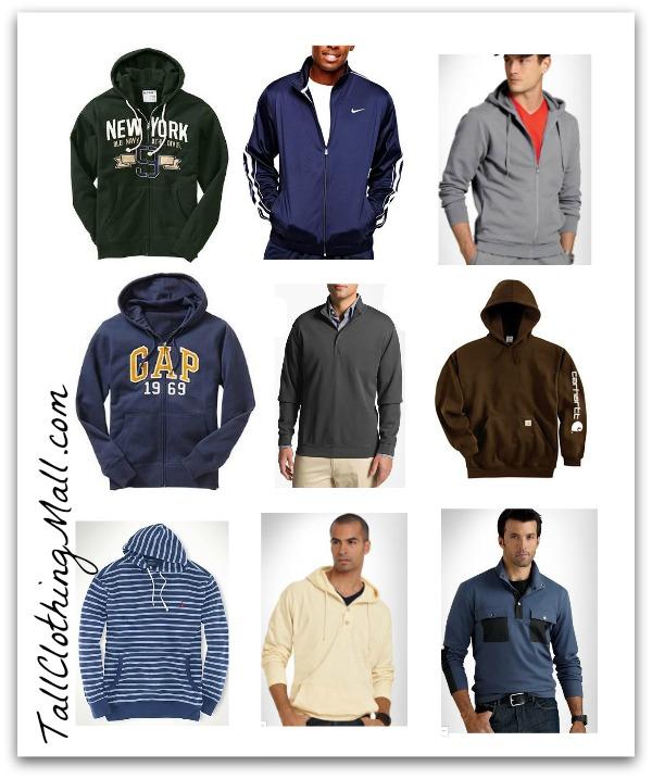 men's tall sweatshirts