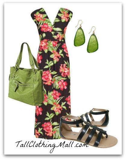 floral tall maxi dress