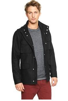 wool fatigue mens tall jacket