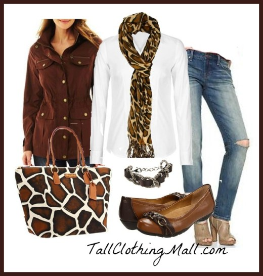 giraffe prints accessories and women's tall outfit