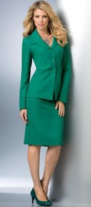 green tall skirtsuit