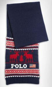 polo ralph lauren reindeer scarf