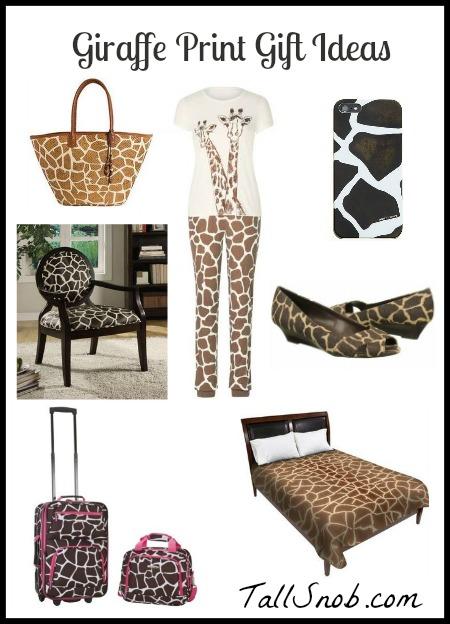 giraffe print gift ideas