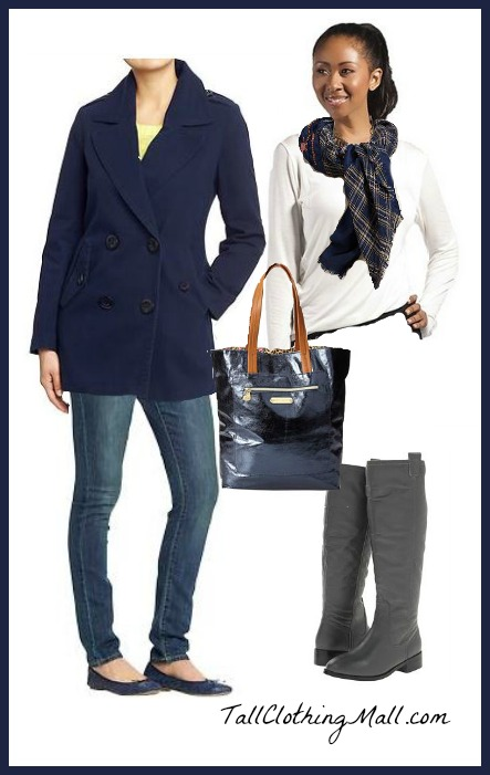 winter blue tall outfit womens