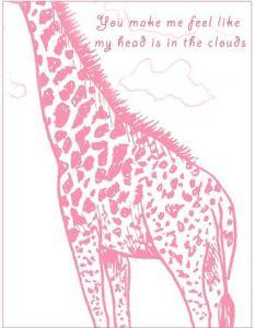 giraffe valentine's day cards