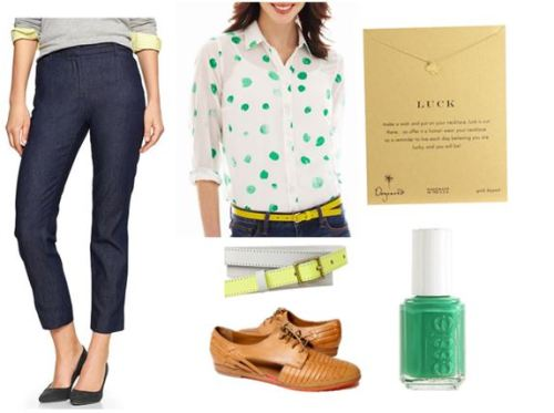 women's tall outfit with green