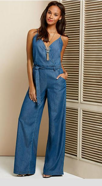 denim tall jumpsuit