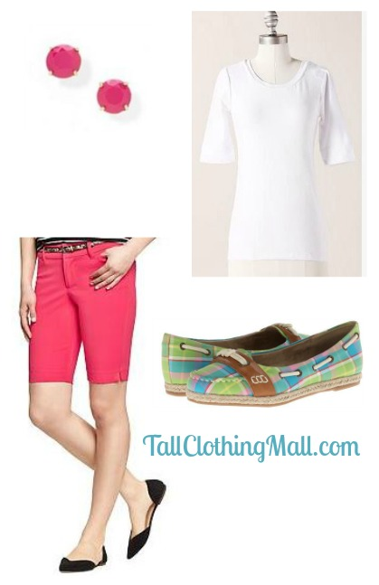 women's tall bermuda shorts and outfit