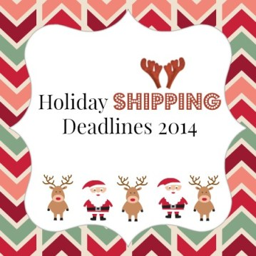 online holiday shipping deadlines 20