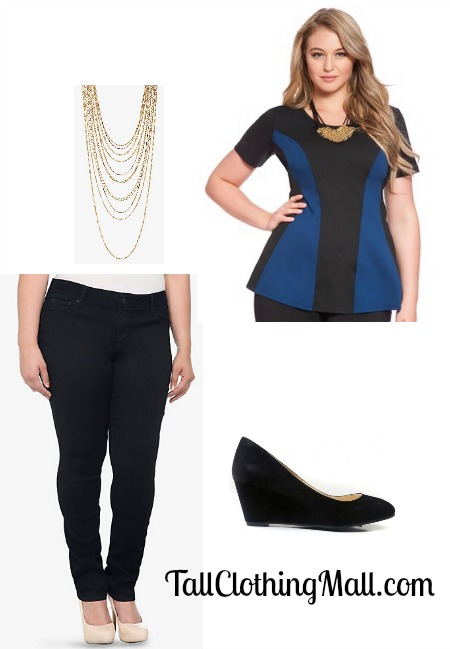 tall plus size outfit