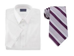 men's tall white shirt short sleeve