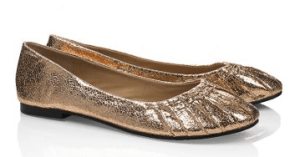 barefoot tess metallic flats